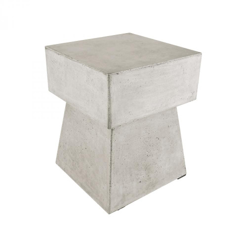 Home Decor By Dimond Mushroom Waxed Concrete Stool 157-019