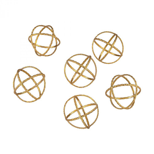 Home Decor By Dimond Decorative Gold Orbs 351-10174/S6