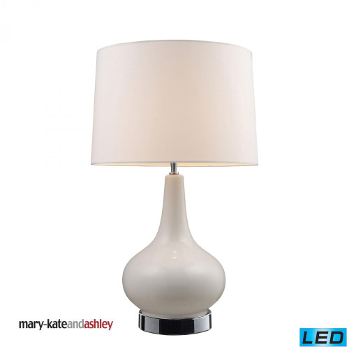 "Lamps By Dimond Mary-Kate and Ashley 27"" Continuum White LED Table Lamp in Chrome 3935/1-LED"