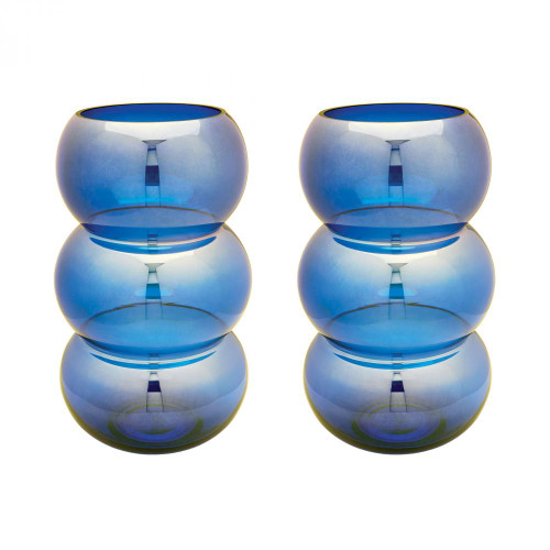 Home Decor By Dimond Cobalt Ring Votives - Set of 2 464075/S2