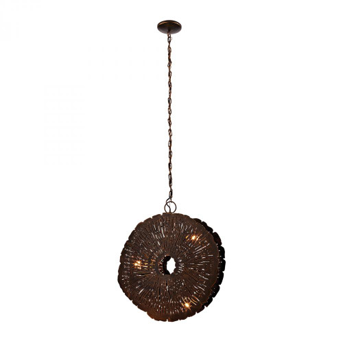 Chandeliers/Pendant Lights By Dimond Organic Metal Etched Disk Chandelier 468-051