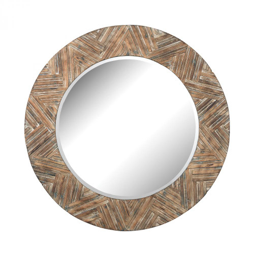 Home Decor By Dimond Large Round Wood Mirror 51-10162
