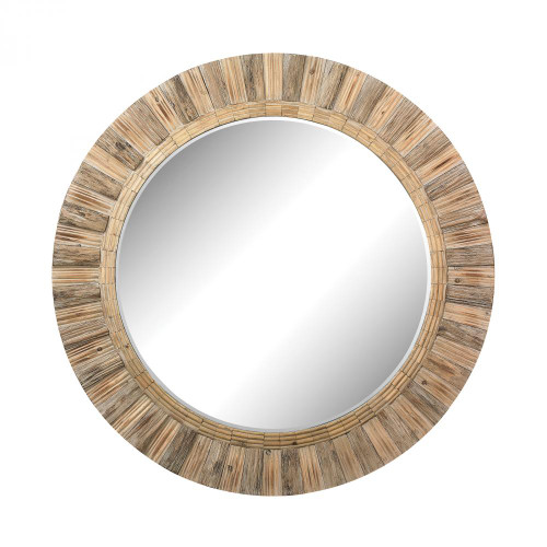 Home Decor By Dimond Oversized Round Wood Mirror 51-10163