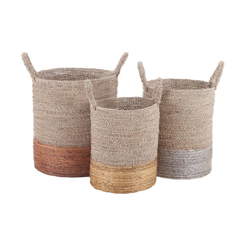 Home Decor By Dimond Mixed Metallics Nested Baskets 7011-001/S3