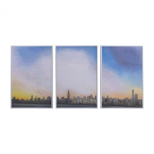 Home Decor By Dimond Manhattan Sky Tryptich 7011-216-S3