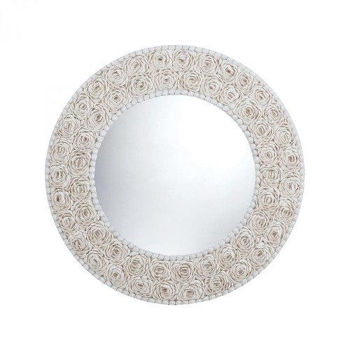 Home Decor By Dimond Floral Pattern Clam Shell Framed Mirror 7163-047