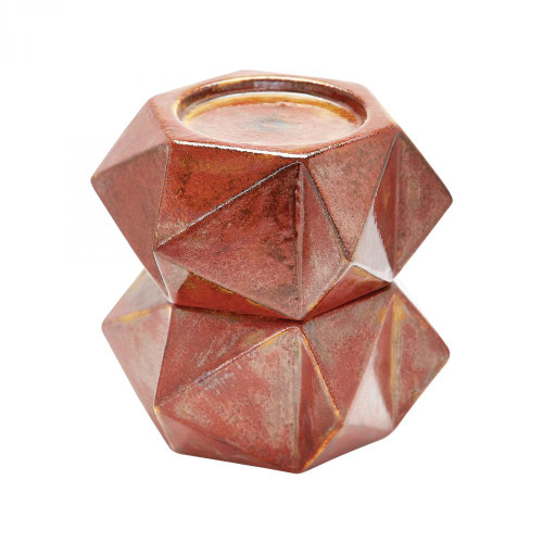Home Decor By Dimond Large Ceramic Star Candle Holders In Russet - Se 857129/S2