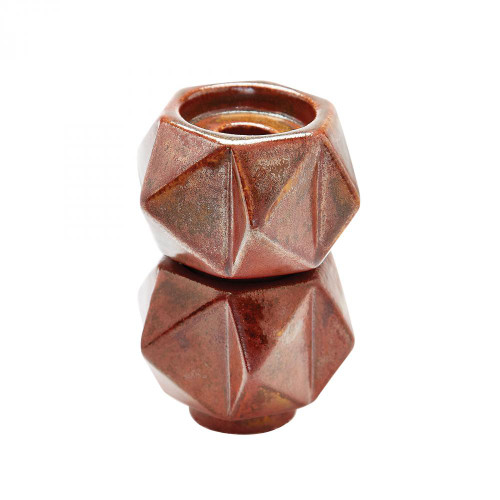 Home Decor By Dimond Small Ceramic Star Candle Holders In Russet - Se 857133/S2