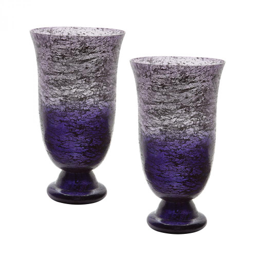 Home Decor By Dimond Plum Ombre Flared Vase - Set of 2 876024/S2