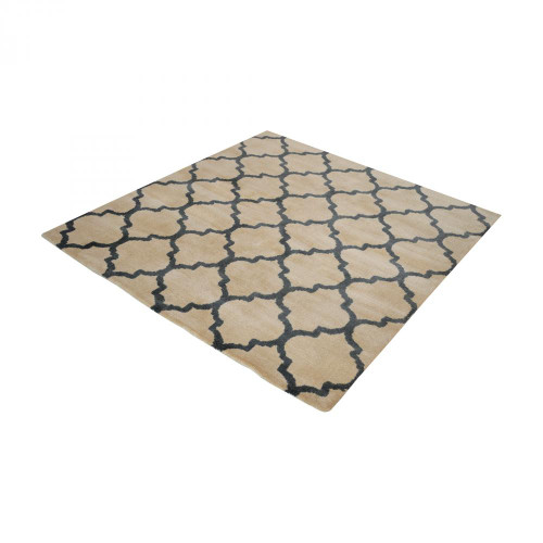 Home Decor By Dimond Wego Handwoven Printed Wool Rug In Natural And B 16x16