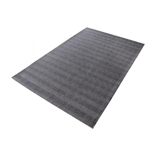 Home Decor By Dimond Ronal Handwoven Cotton Flatweave In Charcoal - 2 8905-093