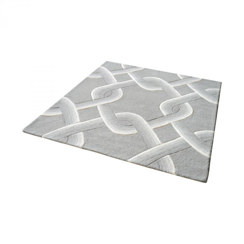 Home Decor By Dimond Desna Handtufted Wool Rug In Grey - 16-Inch Square 8905-193