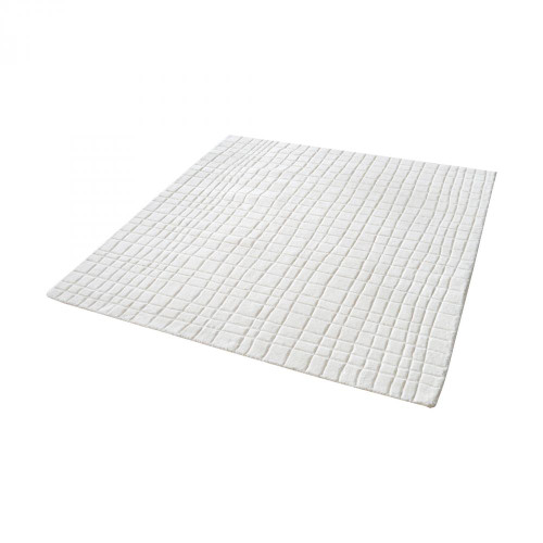 Home Decor By Dimond Blockhill Handwoven Wool Rug In Cream - 16-Inch 8905-223