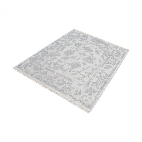 Home Decor By Dimond Harappa Handknotted Wool Rug In Silver And Ivory 16x16