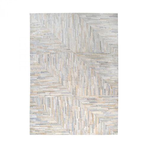 Home Decor By Dimond Karim Hand Stitched Leather Patchwork Rug 16x16 8905-364