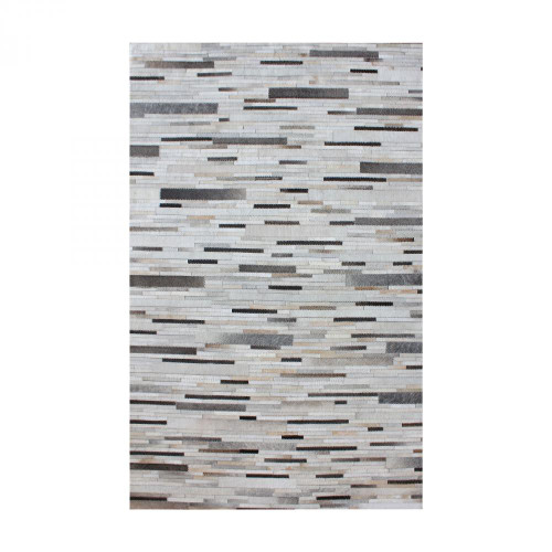Home Decor By Dimond Joico Hand Stitched Leather Patchwork Rug 16x16 8905-374