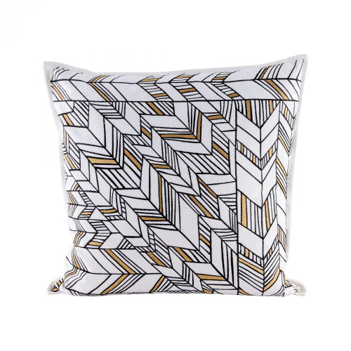 Home Decor By Dimond Golden Arrows pillow With Goose Down Insert 8906-003