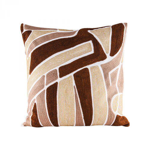 Home Decor By Dimond Brown Neutrals Pillow With Goose Down Insert 8906-008