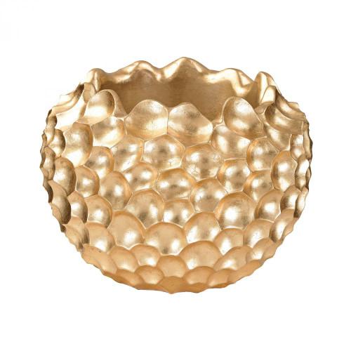 Home Decor By Dimond Vivo Coral Texture Vessel In Gold 9166-030
