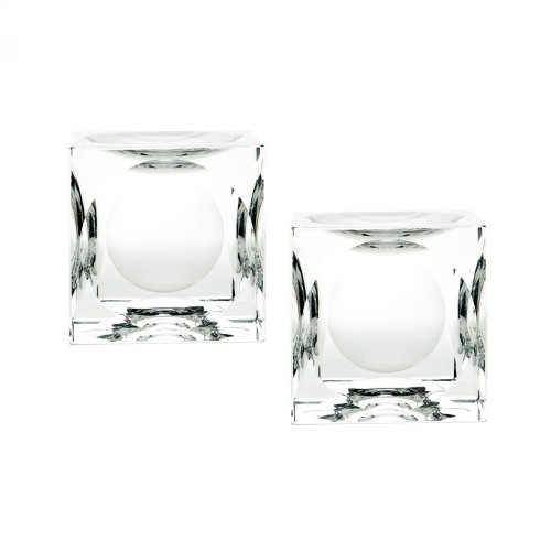Home Decor By Dimond Large Dimpled Crystal Cubes - Set of 2 980017/S2