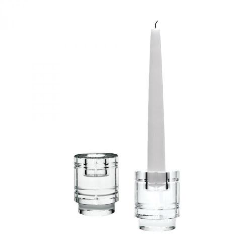 Home Decor By Dimond Windowpane Crystal Column Candleholders - Set of 980020/S2