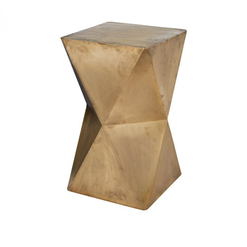 Home Decor By Dimond Faceted Stool With Brass Cladding 985-042