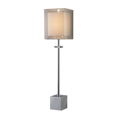 Lamps By Dimond Exeter Table Lamp In Chrome With Double-Framed Shade D1408