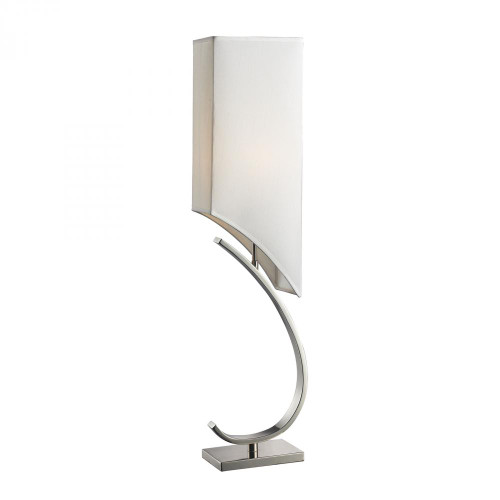 Lamps By Dimond Appleton Table Lamp In Polished Nickel With Pure White Shade D2005