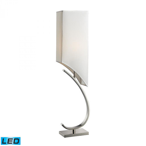 Lamps By Dimond Appleton LED Table Lamp In Polished Nickel With Pure White Shade D2005-LED