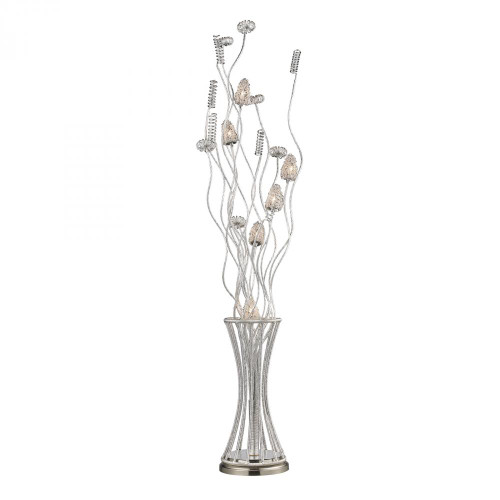 Lamps By Dimond Cyprus Grove Floor Lamp In Satin Nickel D2130