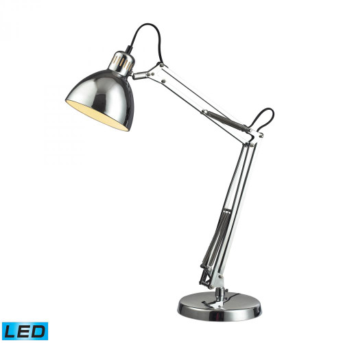 Lamps By Dimond Ingelside LED Desk Lamp In Chrome With Chrome Shade D2176-LED