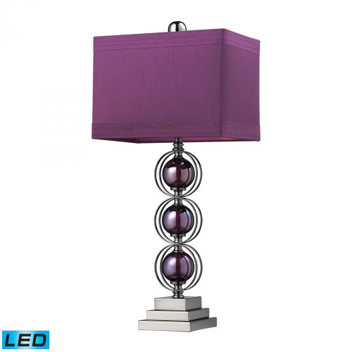 Lamps By Dimond Alva Contemporary LED Table Lamp In Black Nickel And Purple D2232-LED