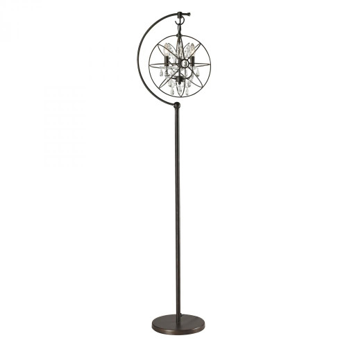 Lamps By Dimond Restoration Globe Floor Lamp in Oil Rubbed Bronze D2422