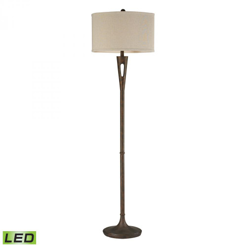 Lamps By Dimond Martcliff LED Floor Lamp in Burnished Bronze D2427-LED