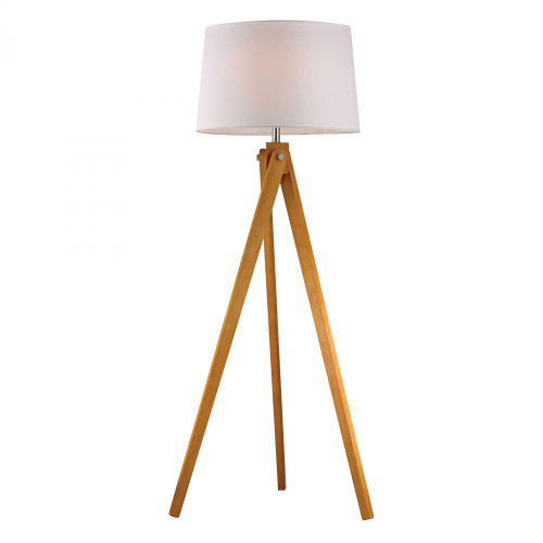 Lamps By Dimond Wooden Tripod Floor Lamp in Natural Wood Tone D2469