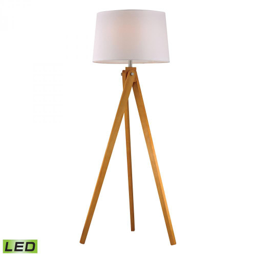Lamps By Dimond Wooden Tripod LED Floor Lamp in Natural Wood Tone D2469-LED