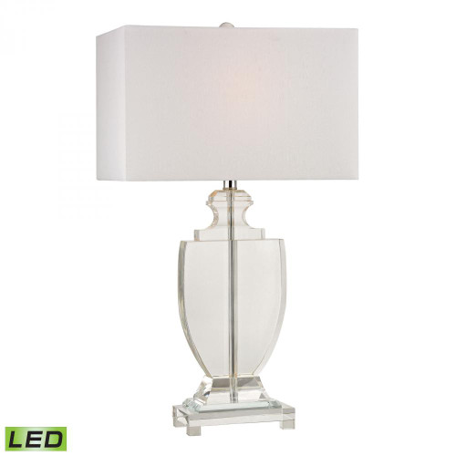 Lamps By Dimond Avonmead Solid Clear Crystal LED Table Lamp D2483-LED