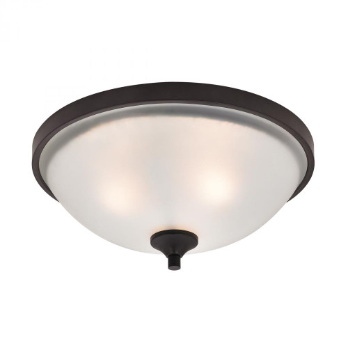 Ceiling Lights By Elk Cornerstone Arlington 3 Light Flush Mount In Oil Rubbed Bronze 2003FM/10