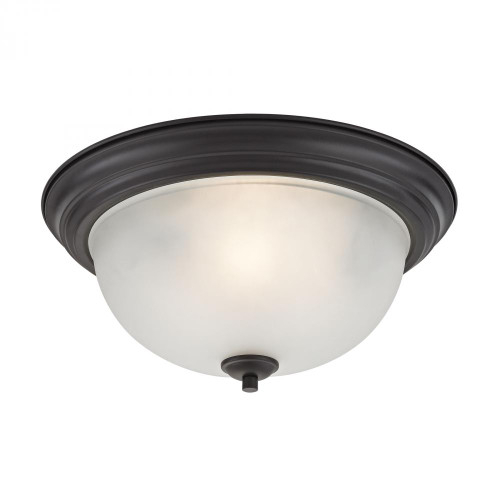 Ceiling Lights By Elk Cornerstone Bristol Lane 3 Light Flush Mount In Oil Rubbed Bronze 2103FM/10
