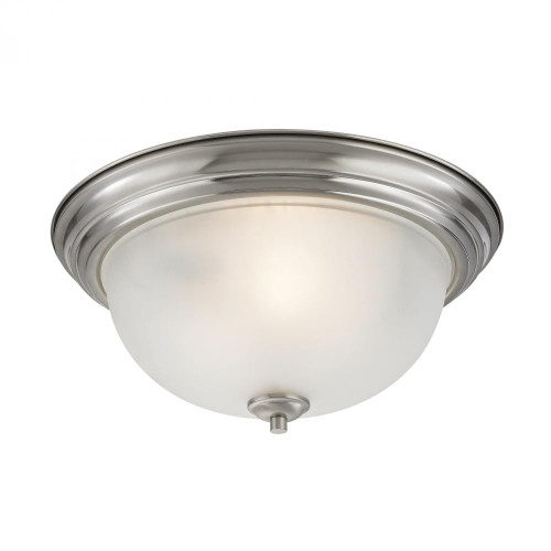 Ceiling Lights By Elk Cornerstone Bristol Lane 3 Light Flush Mount In Brushed Nick 2103FM/20
