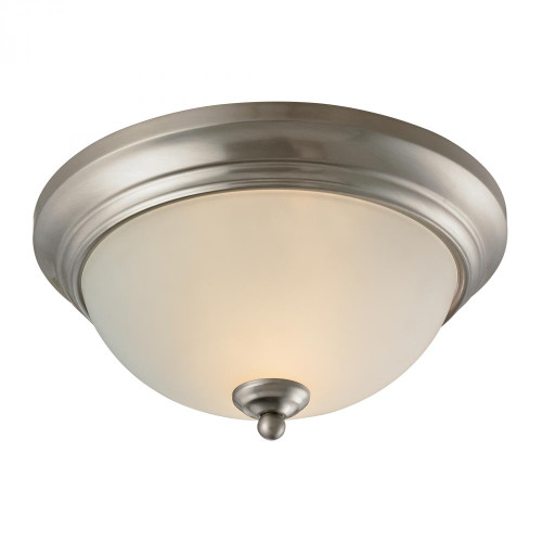 Ceiling Lights By Elk Cornerstone Huntington 2 Light Ceiling Lamp In Brushed Nickel 7002FM/20