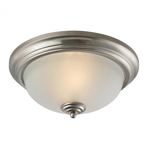 Ceiling Lights By Elk Cornerstone Huntington 3 Light Ceiling Lamp In Brushed Nickel 7003FM/20