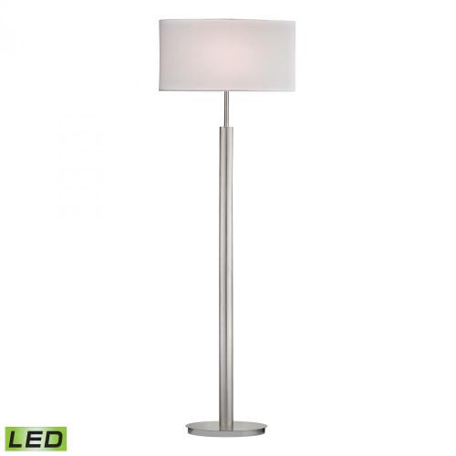 Lamps By Dimond Port Elizabeth LED Floor Lamp in Satin Nickel D2550-LED
