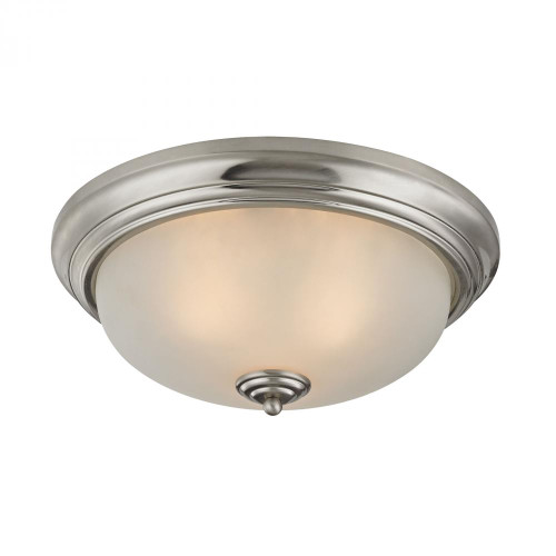 Ceiling Lights By Elk Cornerstone 3 Light Flush Mount In Brushed Nickel 7013FM/20