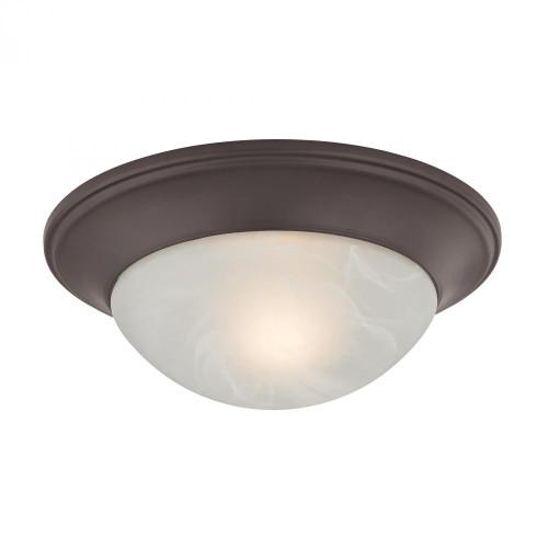 Ceiling Lights By Elk Cornerstone 1 Light Flushmount In Oil Rubbed Bronze 7301FM/10