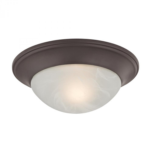 Ceiling Lights By Elk Cornerstone 1 Light Flushmount In Oil Rubbed Bronze 7301FM/10