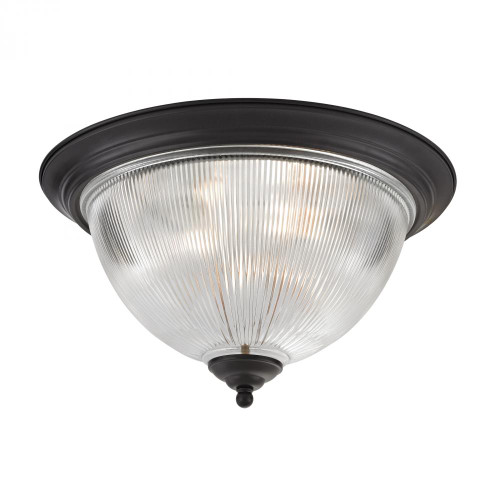 Ceiling Lights By Elk Cornerstone Liberty Park 3 Light Flush Mount In Oil Rubbed B 18x10 7693FM/10