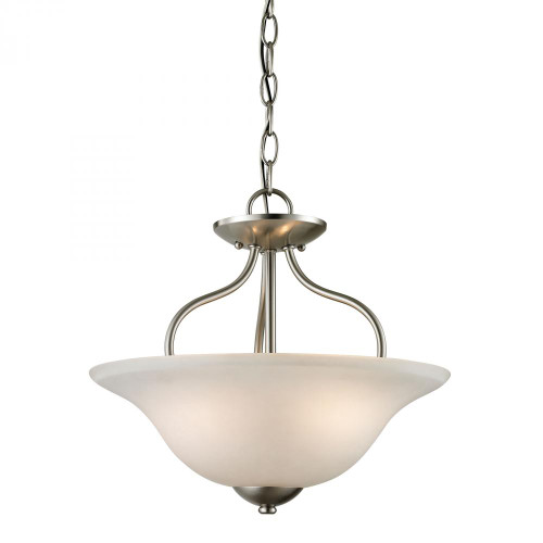 Ceiling Lights By Elk Cornerstone Conway 2 Light Semi-Flush In Brushed Nickel 1202CS/20