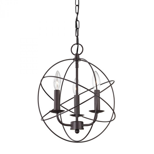 Chandeliers/Mini Chandeliers By Elk Cornerstone Williamsport 3 Light Chandelier In Oiled Rubbed 1513CH/10