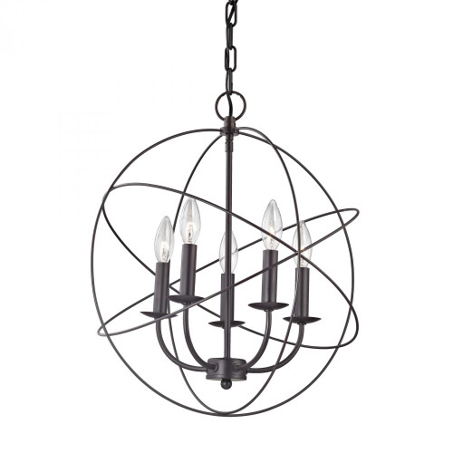 Chandeliers By Elk Cornerstone Williamsport 5 Light Chandelier In Oil Rubbed bronze 1515CH/10